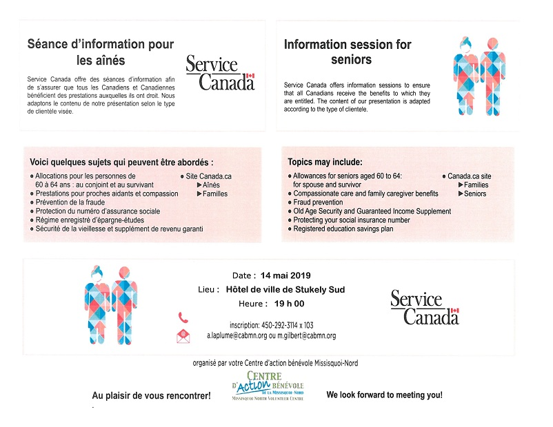 Information session for seniors « Centre d'action bénévole de la